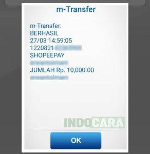 11 Top up ShopeePay Berhasil - Indocara
