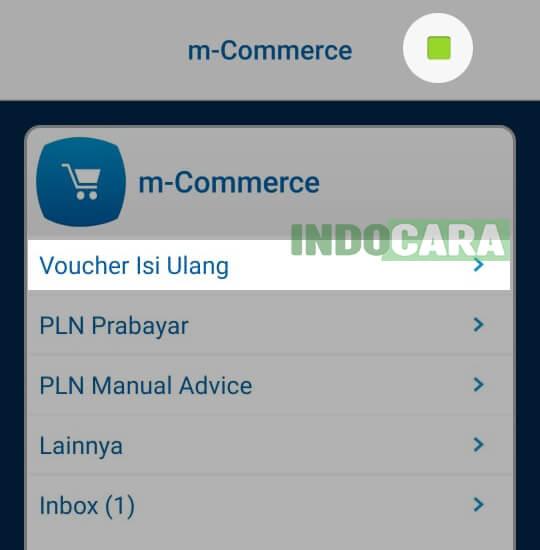 BCA Mobile - Pilih Voucher Isi Ulang - IndoCara