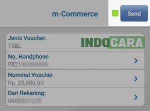 BCA Mobile - m-Commerce - Pilih Send - IndoCara