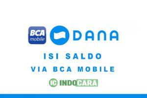 Cara Isi Saldo Dana Lewat M Banking BCA Mobile - IndoCara