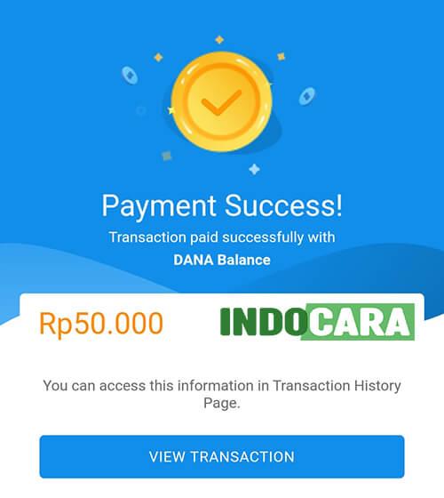 Dana - Transfer dana ke Bank BCA Berhasil - Indocara