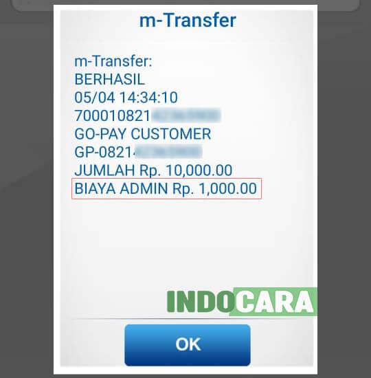 BCA - Isi saldo gopay lewat BCA Mobile berhasil - IndoCara