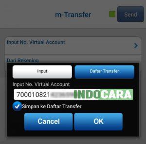 BCA - Masukan No Virtual Account - IndoCara