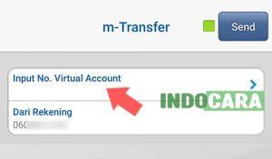 BCA - Pilih Input No Virtual Account - IndoCara