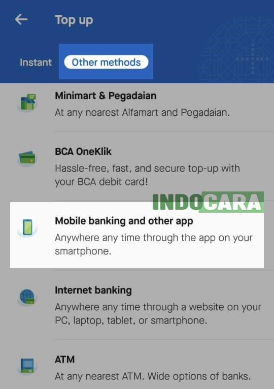 Gopay - Pilih Mobile Banking - indocara