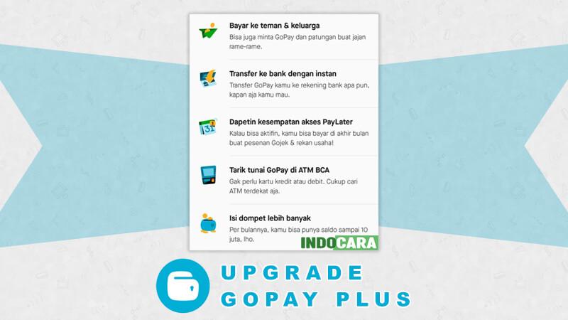 Cara Upgrade Akun Gopay Plus - Indocara