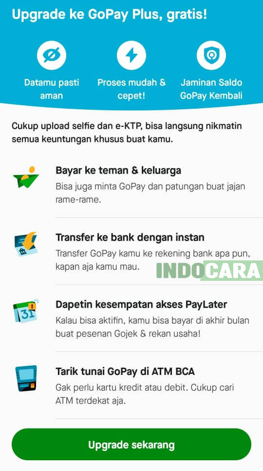 Gopay - Daftar Gopay Plus Sekarang