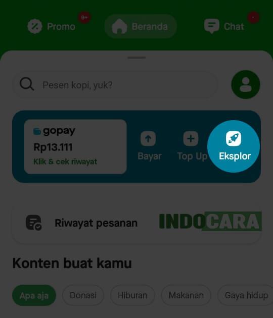 Gopay - Pilih Eksplore