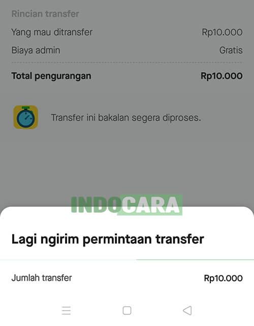 Gopay - Proses transfer ke ShopeePay