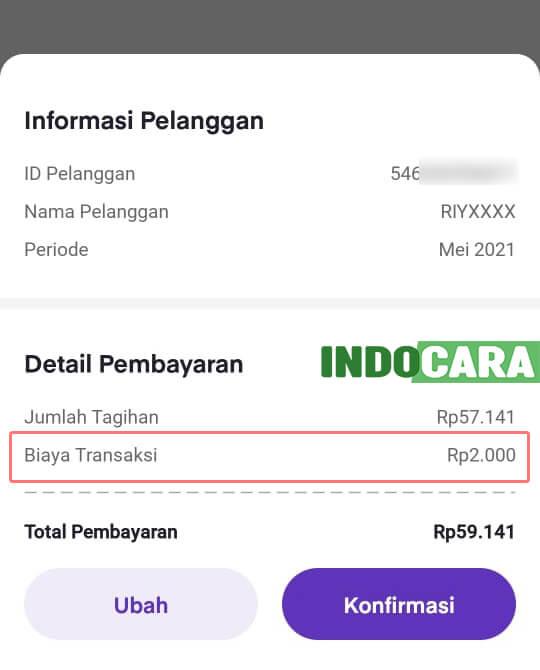 Ovo - PLN - Tagihan Listrik - Detail Pembayaran