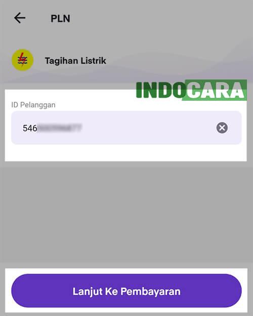 Ovo - PLN - Tagihan Listrik - Masukan ID Pelanggan