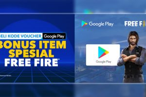 Promo Beli Kode Voucher Google Play, BONUS Item Free Fire - IndoCara
