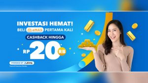 Promo Beli eMAS Pertama Kali di Dana Dapat Cashback 10%