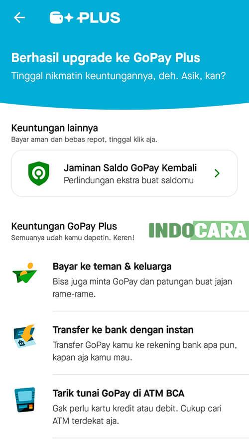 Upgrade Gopay Plus - Halaman Utama