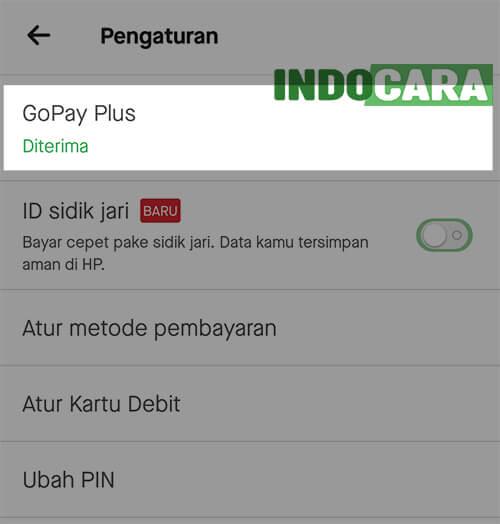 Upgrade Gopay Plus - Pengaturan Gopay Plus Diterima