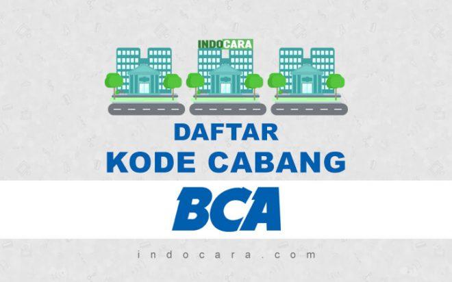 Daftar Kode Cabang BCA di Seluruh Indonesia - Indocara