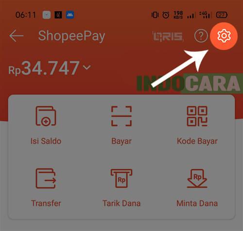 ShopeePay - Pengaturan