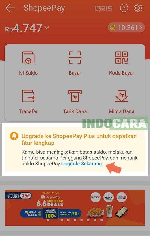 ShopeePay Plus Upgrade Sekarang - IndoCara-min