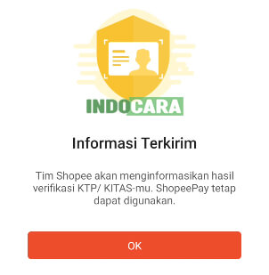 Upgrade ShopeePay Plus - Informasi Terkirim