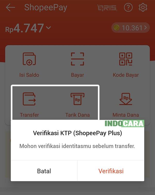 Verifikasi KTP (ShopeePay Plus) untuk dapat menggunakan fitur transfer dan tarik dana-min