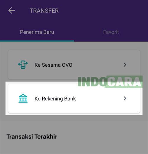 2 OVO - Transfer - Pilih Ke Rekening Bank
