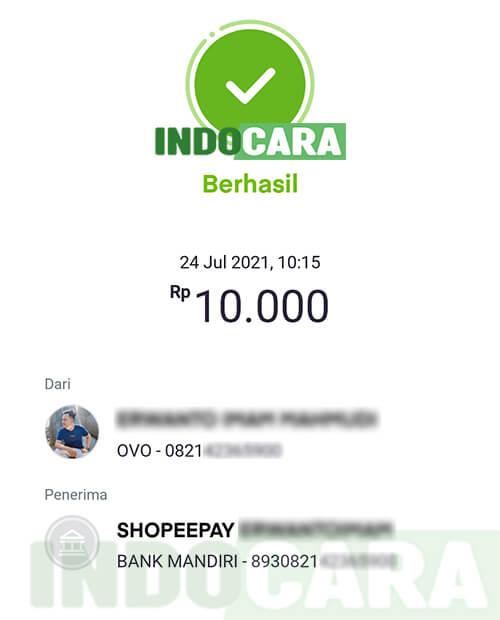 6 Transfer Saldo dari OVO ke ShopeePay Berhasil