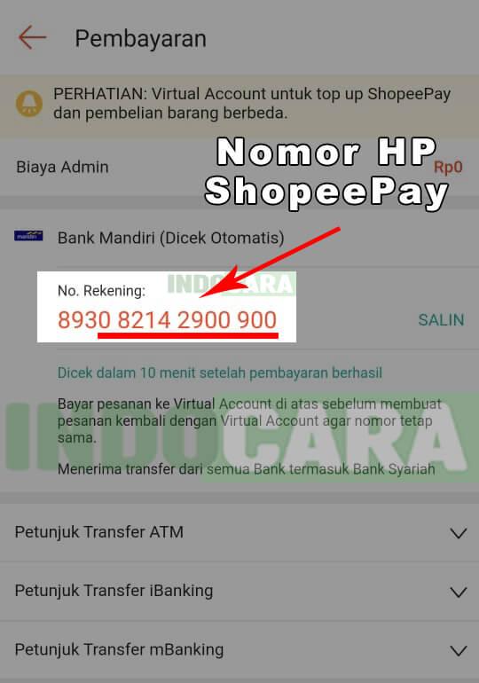 Cara Cek dan Melihat Nomor HP ShopeePay Kita Sendiri