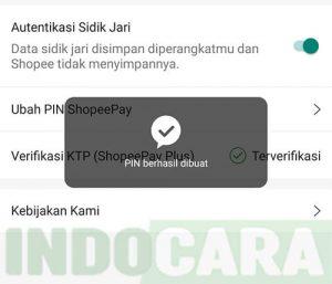 Ubah PIN ShopeePay - Berhasil