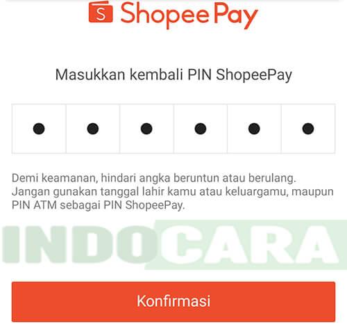 Ubah PIN ShopeePay - Ulangi Masukan PIN Baru