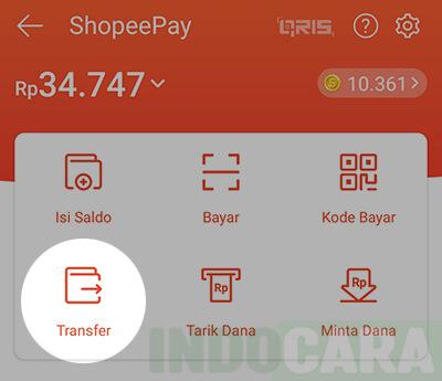 2 Shopee - ShopeePay - Pilih Transfer