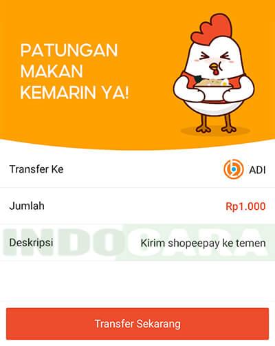 5 Shopee - ShopeePay - Transfer - Transfer Sekarang
