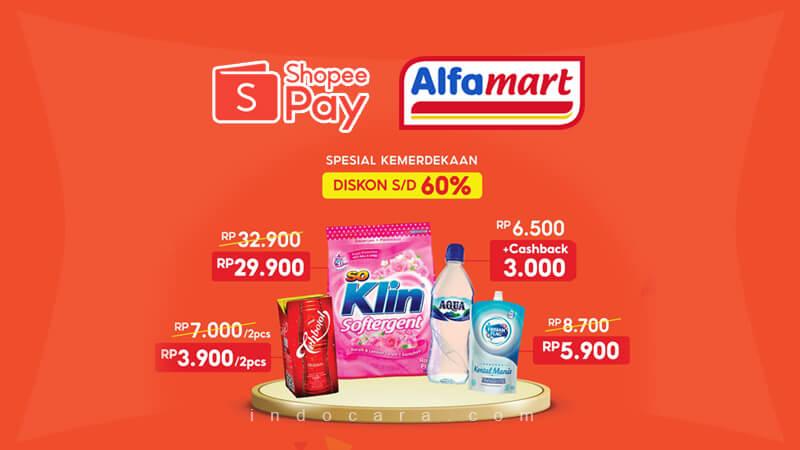 Promo ShopeePay Alfamart Terbaru 1-15 Agustus 2021 - IndoCara