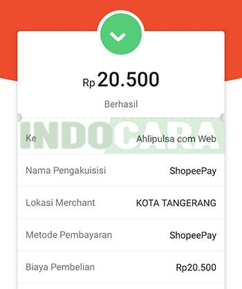 Shopee - Pembayaran Berhasil - Cara transfer ShopeePay ke OVO