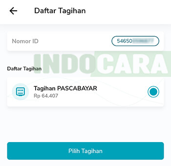2 PLN Mobile - Token & Tagihan - Pilih Tagihan Listrik Pascabayar