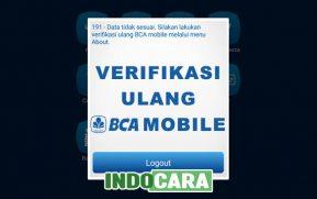 Cara Verifikasi Ulang m Banking BCA Mobile Melalui Menu About - Indocara