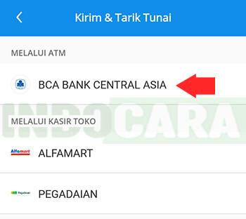 Dana - Kirim dan Tarik Tunai - Pilih Melalui ATM BCA