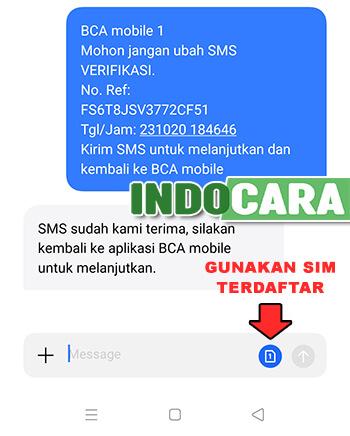 Kirim SMS Untuk Verifikasi Ulang BCA Mobile