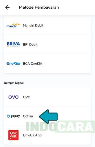 PLN Mobile - Bayar Tagihan Listrik Pascabayar - Pilih Metode Pembayaran Gopay